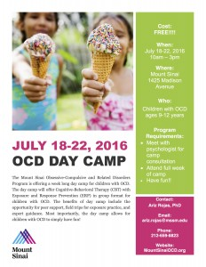 OCD Day Camp flyer 2016