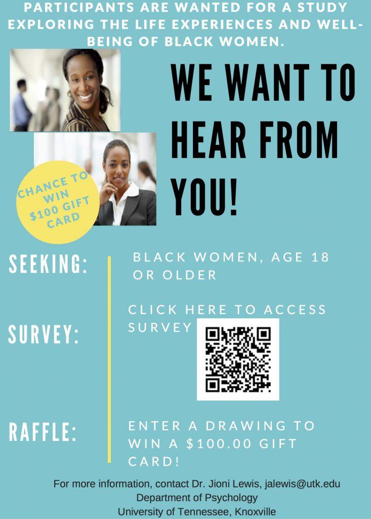 Black women experiences survey